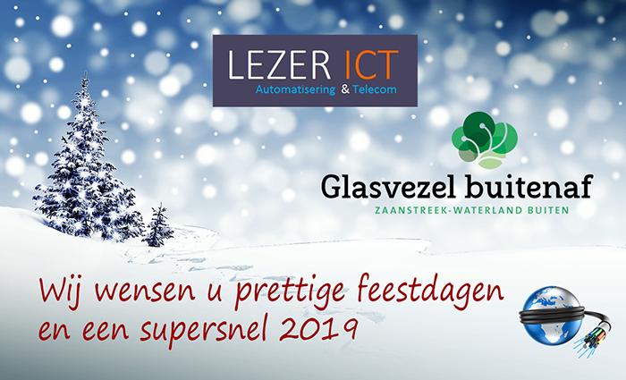 Kerstkaart Glasvezel lezer ICT